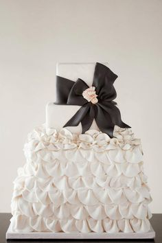 Obsessed with Everything about These Chic Wedding Cakes from Wild Orchid Baking Company