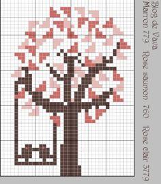 Voici une nouvelle grille comme tous les lundis Un arbre à l'amour ! A télécharger ici pour obtenir une plus grande grille A bientôt vava