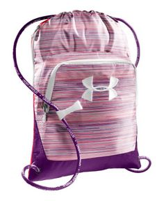 Under Armour Exeter Sackpack Brilliance/Neo Pulse/White Workout Accessories, Women's Accessories, Under Armour Backpack, Diaper Bag, Nike Bags, Cute Backpacks, School Bags, School Stuff, Drawstring Backpack