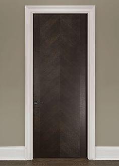 Modern Rift-Cut Oak Solid Wood Front Entry Door - Single - DBIM-FL4005