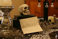 """Celebrating the Moments: Vintage """"Goth meets Glam"""" Dinner Party"""