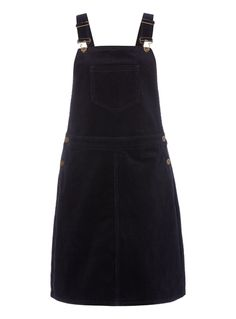 Navy Corduroy Dungaree Dress £13.50
