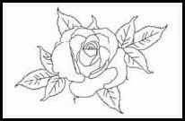 free cottage rose digital stamp set