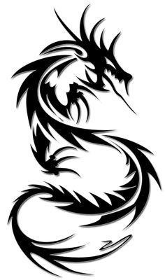My favorite tribal dragon design; Dragon Tattoo Clipart, Dragon Tattoo Hd, Dragon Tattoo Photo, Dragon Tattoo Images, Dragon Tattoo Drawing, Black Dragon Tattoo, Tribal Dragon Tattoos, Small Dragon Tattoos, Cool Tribal Tattoos