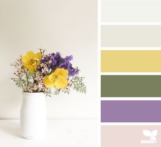 68 Ideas For Wedding Colors Summer Neutral Design Seeds Purple Color Palettes, Colour Pallette, Colour Schemes, Color Patterns, Color Combos, Design Seeds, Color Lila, Grey Paint Colors, Gray Paint