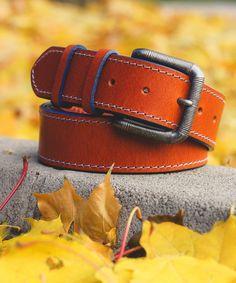 Farieb nie je nikdy dosť. Hlavne ja jar. ( fotka z jesene ;) #autumn #orange #leather #belt #handmade #slovakia #fashion #men