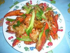 TrucVy-Zoe's Zone: Cantonese Lobster with Ginger and Scallion
