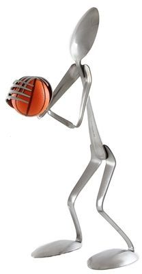 Funny and totally unique flatware products made out of forks and spoon which is another awesome addition to the home and office supplies line. This Basketball Player Display Spoon is a perfect gift fo
