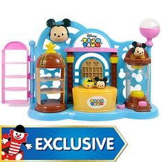 Disney Tsum-Tsum Stacklable Figure Toy Shop Playset - The Entertainer