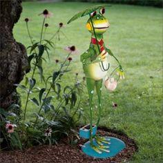 Eglo Outdoor Decorative Solar Lamp Frog garden party frog
