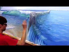 How To Paint Pool Water - Mural Joe - YouTube