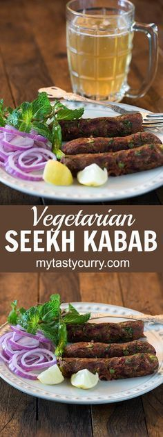 Vegetarian seekh kabab is delicious and healthy Indian starter recipe perfect for the party or as a snack. Easy and tasty recipe of Vegetarian seekh Kabab #indianvegetarianrecipes