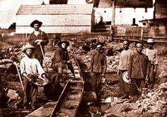 """The Gold Rush and Levi's- Levi Strauss made sturdy, close-fitting denim pants for the miners because their clothes could not handle their through rough work. Also known as """"blue jeans""""."""