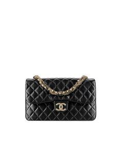 Chanel - Pattentasche aus Lammleder mit Perlenschliesse und Perlen bestickter Kette