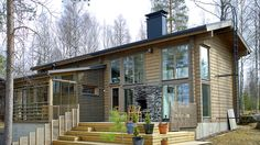 Honka - Pikku-Ritari Timber Frame Homes, Timber House, Wooden House, Sweet Home, New Homes, Cottage, Cabin, Treehouse, Architecture