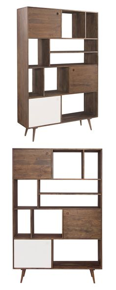 Give your books the mid-century modern treatment. This bookshelf is crafted with solid acacia wood and is part of our Oren Collection of furnishings. Its uniquely stacked shelves add a chic touch to yo...  Find the Oren Bookshelf, as seen in the A Modern Bohemian Abode Collection at http://dotandbo.com/collections/a-modern-bohemian-abode?utm_source=pinterest&utm_medium=organic&db_sku=122816
