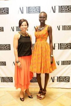 Alek Wek in Bongiwe Walaza, Joburg MBF week with Dr Precious Motsepe. African Inspired Fashion, African Fashion, Alek Wek, Fashion Today, Fashion Outfits, Fashion Clothes, Supermodels, Women Wear, Stylists