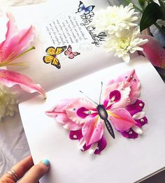 Kristina Webb completed the butterfly challenge in her new book, colour me creative Kristina Webb Art, Butterfly Wings, Handicraft, Cool Art, Awesome Art, Diy And Crafts, Art Projects, Gift Wrapping, Creative