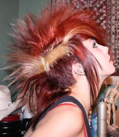 Red #mohawk