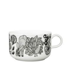 Arabia's new Piilopaikka series is so cute. I want this tea cup. ( 0,3 l)