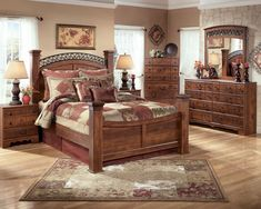 Shop a great selection of Ashley Furniture Timberline 6 Piece Queen Drawer Panel Bedroom Set. Find new offer and Similar products for Ashley Furniture Timberline 6 Piece Queen Drawer Panel Bedroom Set. King Size Bedroom Sets, 5 Piece Bedroom Set, Queen Bedroom, Dream Bedroom, Texas Bedroom, Brown Master Bedroom, Ashley Bedroom, Country Style Furniture, Painted Bedroom Furniture