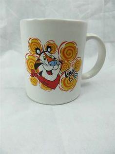 Tony The Tiger Coffee Mug Cup Kellogg's Orange Tony Stripes 2002 Frosted Flakes | eBay