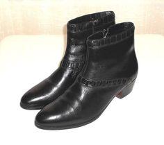 Jarman Black Leather Side Zip Dress Ankle Boot Men's Size 11 D #Jarman #DressAnkleBoot
