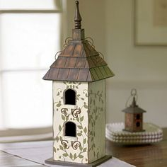 """Our large birdhouse is perfect as a centerpiece anywhere in your home 22""""  www.staceyeverett.willowhouse.com"""