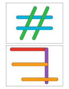 Discover thousands of images about Popsicle Stick Activities Montessori Activities, Infant Activities, Activities For Kids, Preschool Printables, Preschool Math, Teaching Kids, Kids Learning, Pop Sicle, Handwriting Activities
