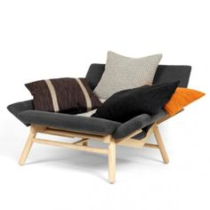 Comfortable And Inviting Sofa With Pillows by Kallemo