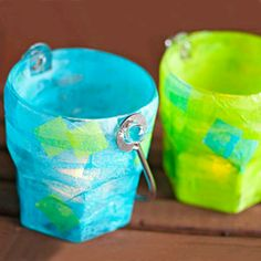 Glaslyktor med decoupage