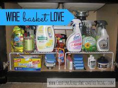 Organize Your Life Using Wire Baskets. #organize #baskets #DIY