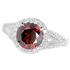 Jewelry Point - 2.04ct Fancy Red Diamond Halo Engagement Ring 18k White Gold, $4,690.00 (http://www.jewelrypoint.com/2-04ct-fancy-red-diamond-halo-engagement-ring-18k-white-gold/)