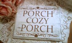 Porch Sign Shabby Cottage Sign Porch Decor, Lake House Sign, Cabin Sign, Outdoor Decor lake houses, shabbi cabin, front porch, cottag sign, welcom porch, cozi porch, shabby cottage