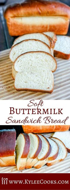 A beautifully soft homemade white sandwich bread, with a touch of extra flavor from buttermilk. This bread is fantastic for sandwiches, toasting, or right out of the oven. via @kyleecooks