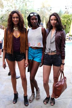 You know where my focus is -- yup, the crocheted shell on the girl in the middle (Coachella 2015)