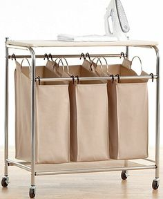Neatfreak Hampers, Everfresh Laundry Triple Sorter with Ironing Board - Laundry Room Organization - for the home - Macy's