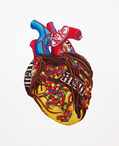 Vanessa Wong | My Heart Is An Idiot | http://www.saatchiart.com/missv Plus
