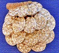 VINTAGE RARE BOUCHER CRYSTAL RHINESTONE CLUSTER SIGNED & NUMBERED BROOCH PIN
