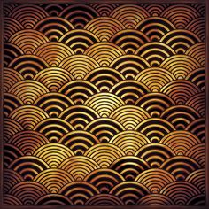 Japanese traditional waves pattern, seigaiha 青海波
