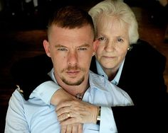 Alexander McQueen with his mum {That moment when my mother witness me shift the world}}