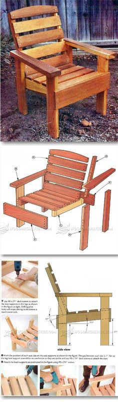 Teds Wood Working - Deck Chair Plans - Outdoor Furniture Plans & Projects | WoodArchivist.com - Get A Lifetime Of Project Ideas & Inspiration!