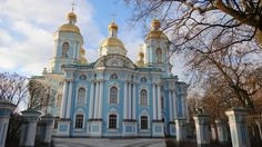 **Nicholas Naval Cathedral of The Epiphany (no pictures allowed) - St. Petersburg, Russia