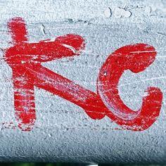 Red KC #red #redpaint #redspraypaint #redkc #redletters #streetart #urbanart #instagraffiti #amsterdam #kc #letters #type streetartphotography