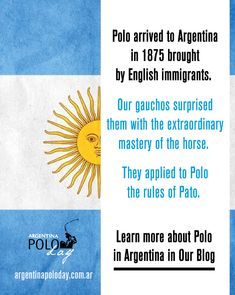 🤓Polo arrived in Argentina in Learn more about Polo in Argentina Here! Gaucho, Asia, How To Apply, Polo, History, Learning, Sports, Argentina, Buenos Aires