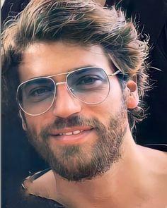 Turkish Men, Turkish Actors, Round Sunglasses, Mirrored Sunglasses, Mens Sunglasses, How To Look Handsome, Handsome Guys, Sexy Beard, Country Boys