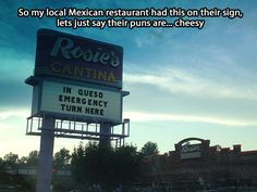 Local Mexican restaurant…