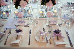 lavender table decor, so pretty!