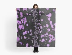 Purple Sparks, Stars on Black Pattern no.2 by cool-shirts