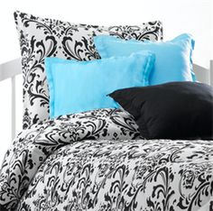 Black & White Damask Bedding Made in America!